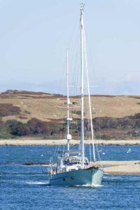 boat in water on the elizabeth islands_elizabeth island massachusetts_cape cod tourism