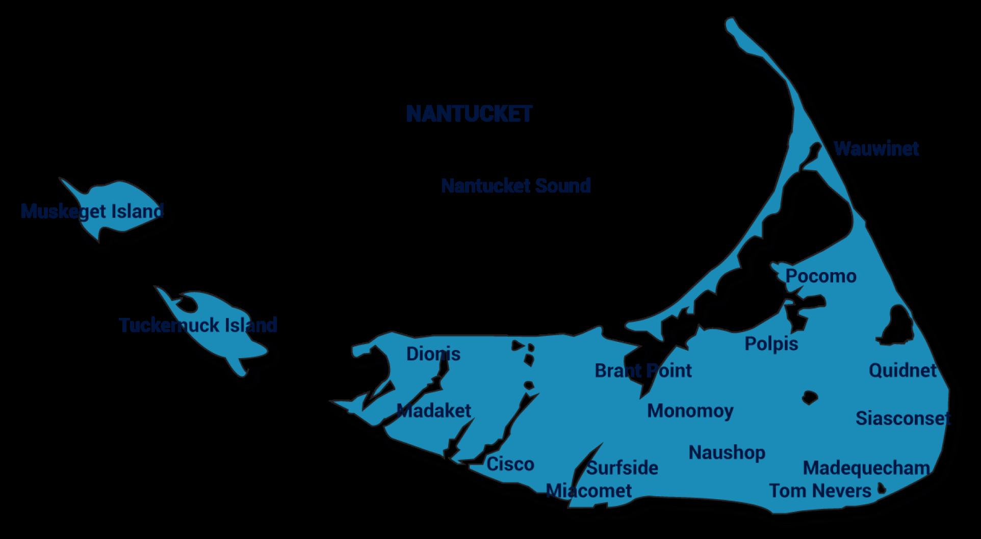 nantucket map small