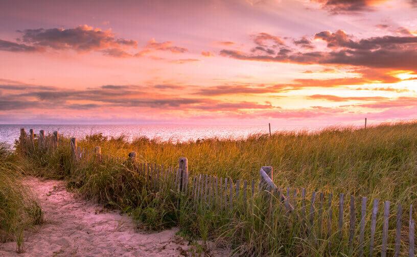 Sunset from Herring Cove Beach