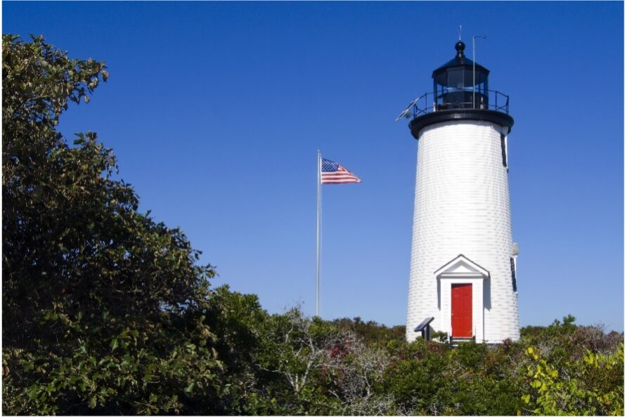 Cape Poge Light in Chappaquiddick Massachusetts_ Cape Cod day trip