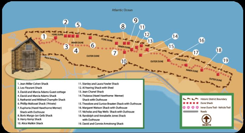 dune map_dune shacks of peaked hill bars historic district