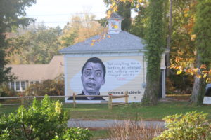 building mural along historic route 6a_old kings highway