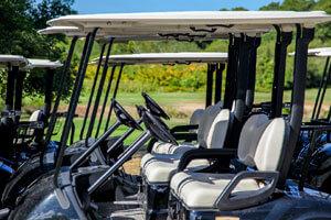 golf cart on cape cod golf course