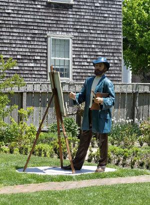 artist sculpture at hadwen house garden in nantucket massachusetts