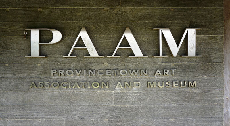 PAAM sign_provincetown art association and museum