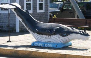 MacMillan Pier in Provincetown Harbor statue
