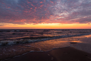 one of the cape cod sunsets on the beach