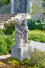 photo of statue in cape cod community garden