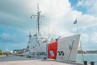 coast guard ship at coast guard heritage museum_cape cod museum_things to do in cape cod