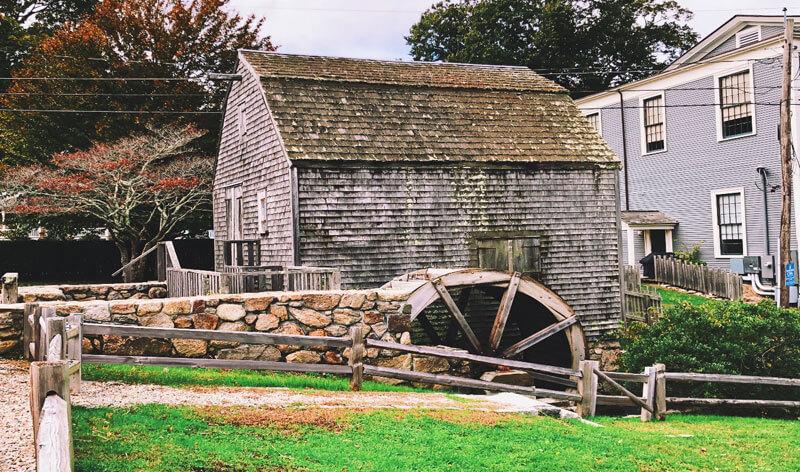 dexter grist mill_cape cod historic sites_sandwich massachusetts