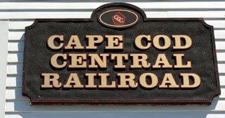 cape cod central railroad sign_cape cod historic sites_historical landmarks in cape cod