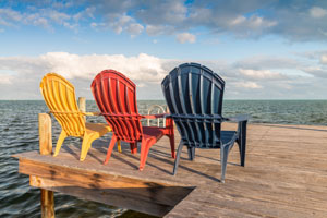 beach chairs on dock in cape cod_where to stay on cape cod and the islands