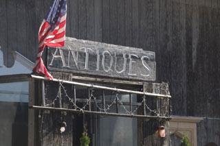 antiques sign_cape cod antique shops_shopping on cape cod