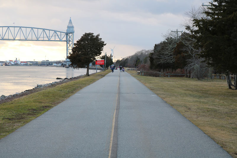 photo of cape cod canal trail_cape cod canal bike trail_bike trails on cape cod