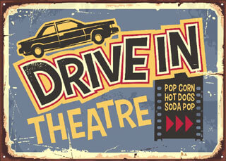 drive in theatre advertising sign_cape cod drive in_cape cod movie theaters_things to do on cape cod