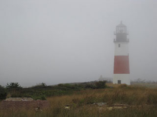 nantucket lighthouse encased in fog_ghosts of nantucket_things to do on cape cod