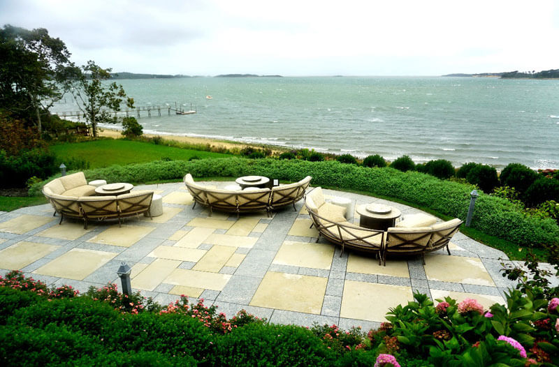 seating overlooking shore on cape cod_cape cod vacation tips