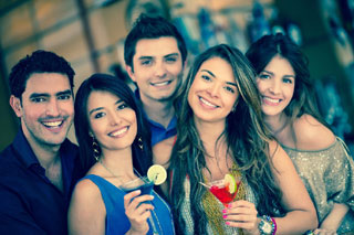 group of people holding drinks_nightlife in cape cod_things to do on cape cod