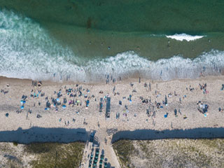 aerial photo of beach_sharks in cape cod