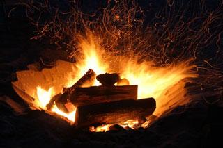 small fire on cape cod beaches
