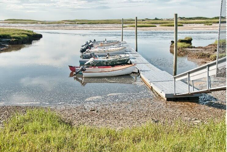group of boats at dock_cape cod boat rentals_things to do on cape cod