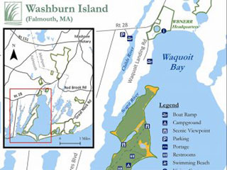 washburn island on the shores of waquoit bay